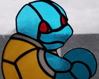 Squirtle Stained Glass Suncatcher