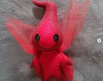 Red Will-o-Wisp with Black Eyes