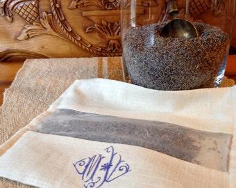 Lavender Sachet Drawer Pillow Liner Monogrammed - wedding favor - bridesmaid gift