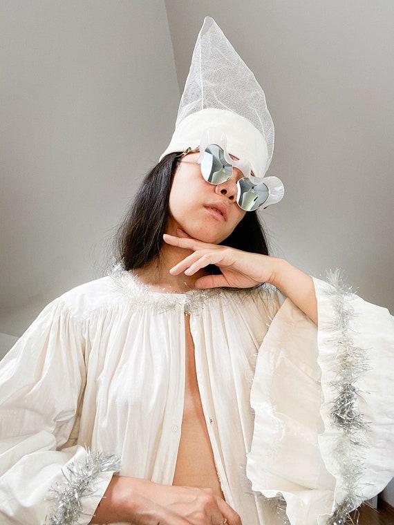 Antique Celestial Cotton Robe Coat with Tinsel Tri