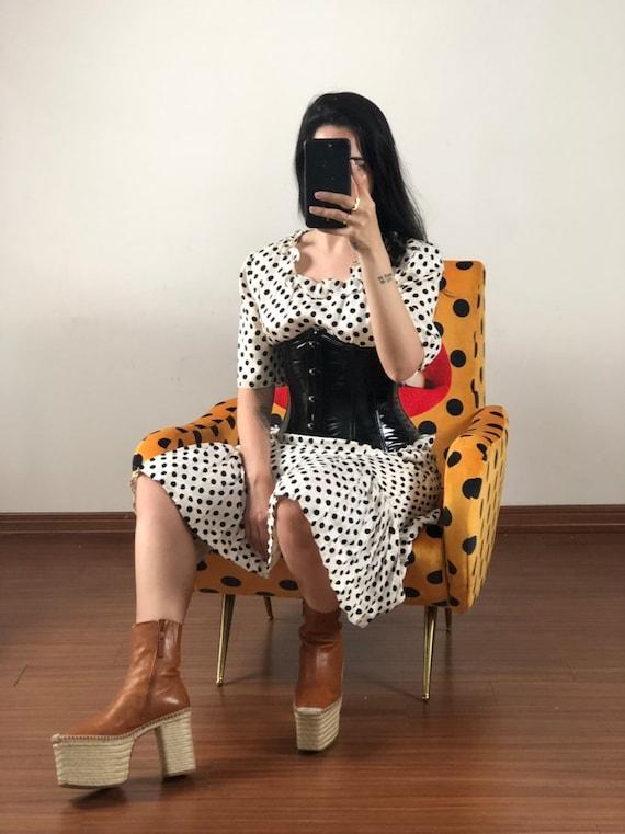 Vintage Polkadot Silk Valentino Dress