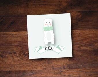 Polar Bear Holiday Gift Tag