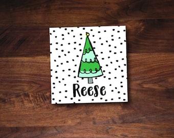 Funky Christmas Tree Gift Tag