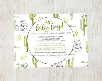 Cactus Baby Shower/Sprinkle Invitation
