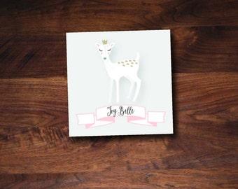 Dainty Deer Holiday Gift Tag