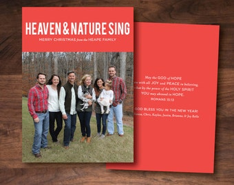 Heaven & Nature Sing Christmas Card