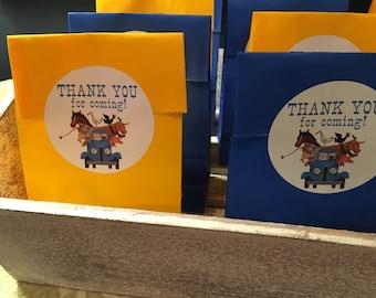 Little Blue Truck Party Favor Stickers