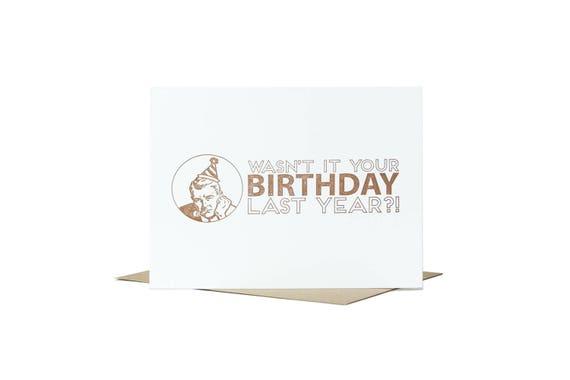 Cranky Birthday Card Letterpress Card Grumpy Old Men Etsy