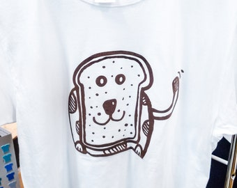 1 ONLY! Bread Dog Original Unisex T-Shirt | Soft-Touch Sensory Non-Toxic Print | 100% OCS-Certified Organic Cotton | Ethically Made | Medium