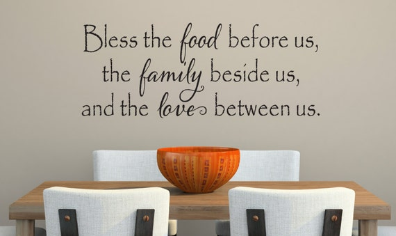 Bless The Food Before Us Wall Decal Kitchen Vinyl Decal | Etsy