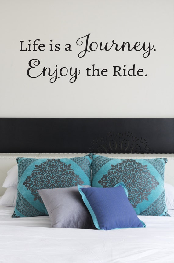 Life Is A Journey Wall Decal Inspirational Quotes Family Etsy