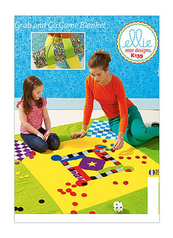 Kwik Sew 139 K139 Grab and Go Game Blanket Sewing Pattern