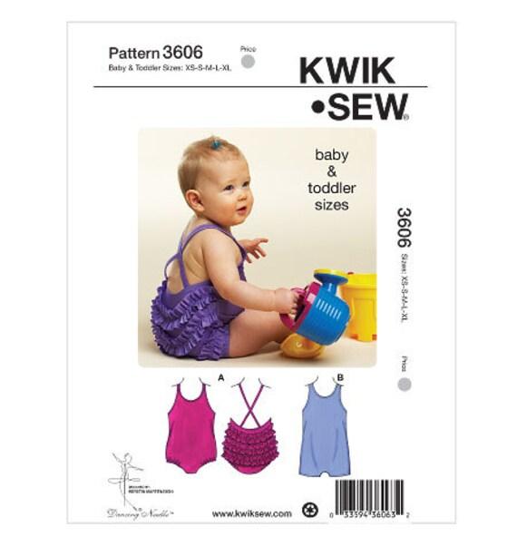 Kwik Sew 3606 Baby und Kleinkind-Badeanzüge-Schnittmuster | Etsy