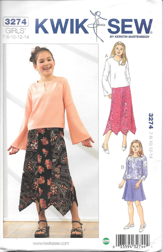 Kwik Sew 3274 Girls And Tweens Sewing Pattern New Uncut Etsy