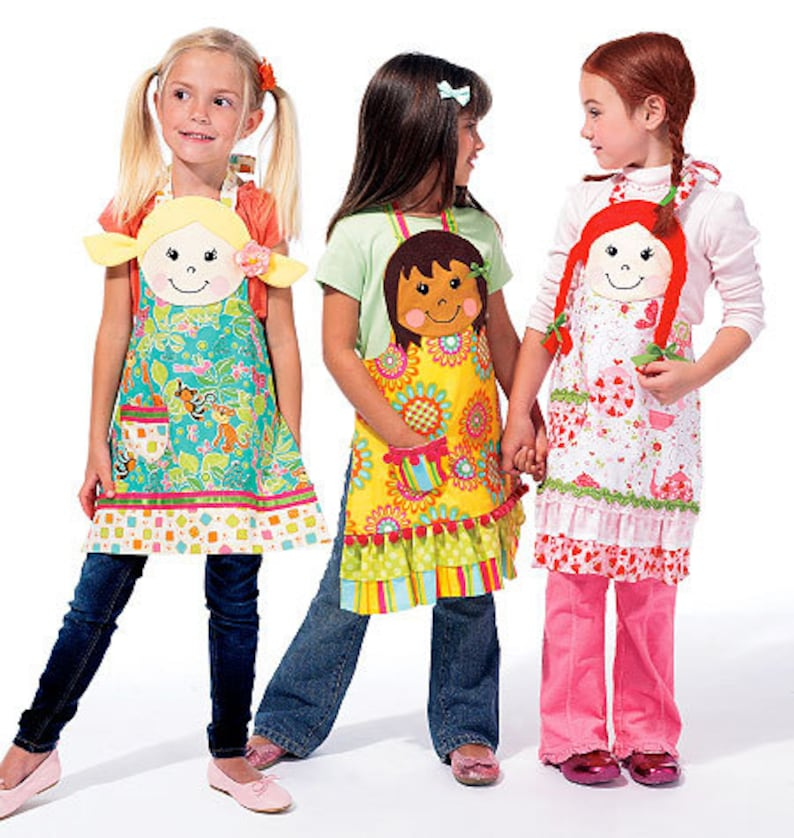 8f088ea07dc14 McCalls 6662 Childrens apron sewing pattern Apron Pattern