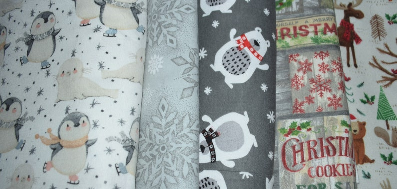 Flannel Fat Quarters 18 X 22 Flannel Fat Quarter Five different choices Fun Holiday Flannels Holiday flannel 100/% Cotton Flannel