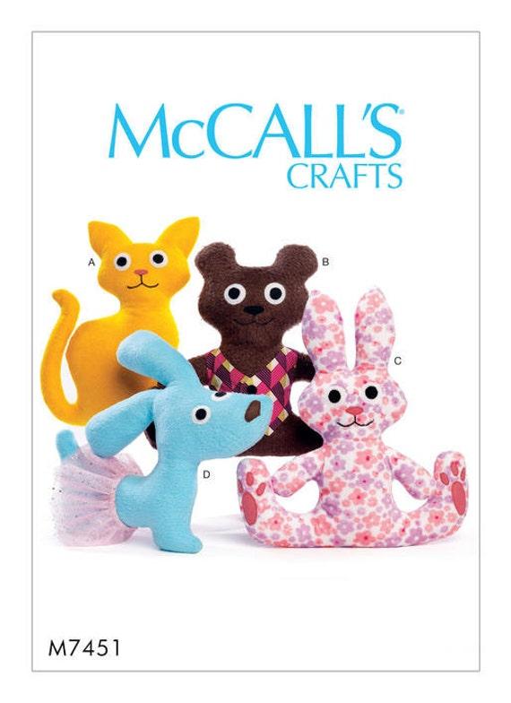 McCalls 7451 Katze Bär Hase und Hund Stofftiere | Etsy