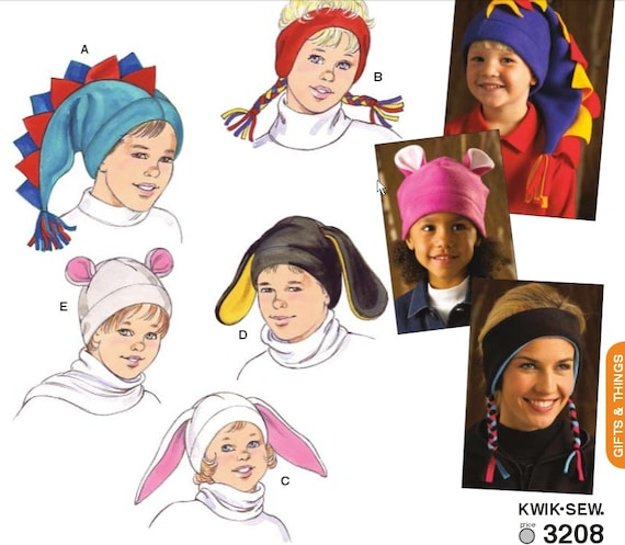 Kwik Nähen 3208 Erwachsene und Kinder Hüte Nähen Muster Größe | Etsy