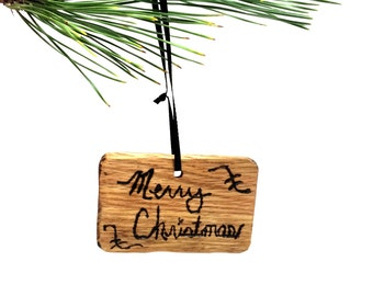 Rustic Merry Christmas Ornament