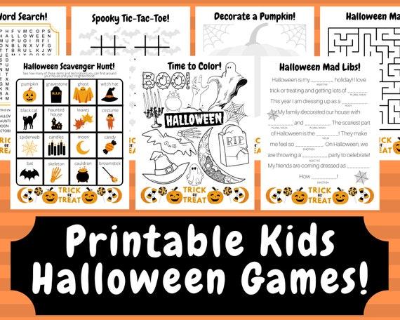Printable Halloween Games Halloween Kids Games Halloween