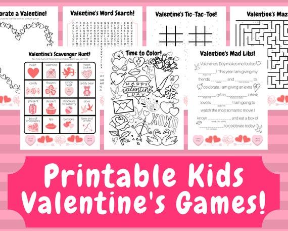 Printable Valentine's Games Valentine's Day Kids