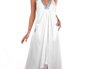 Halter Maxi Dress White