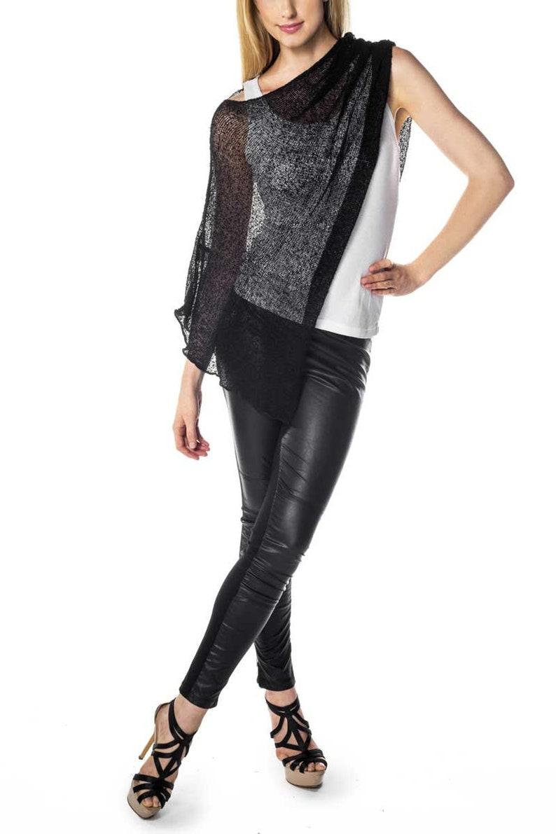 Luxury Top Black Women/'s Wrap Boho Poncho Summer Versatile Stretchable Rayon Cardigan Wrinkle Free
