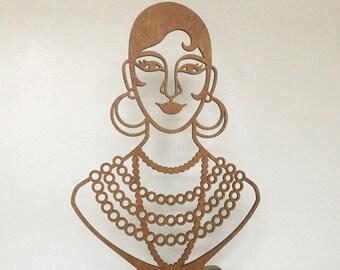 Josephine Baker portrait bust. Modern home decor accessory