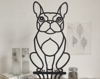 Custom pet portrait bust. Laser cut wood sculpture. Modern home accesory pet decor
