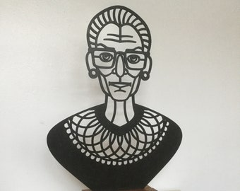 Ruth Bader Ginsburg portrait bust. Modern home decor accessory