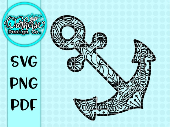 Anchor Mandala Svg Anchor Svg Mandala Svg Svgsvg Files For Etsy