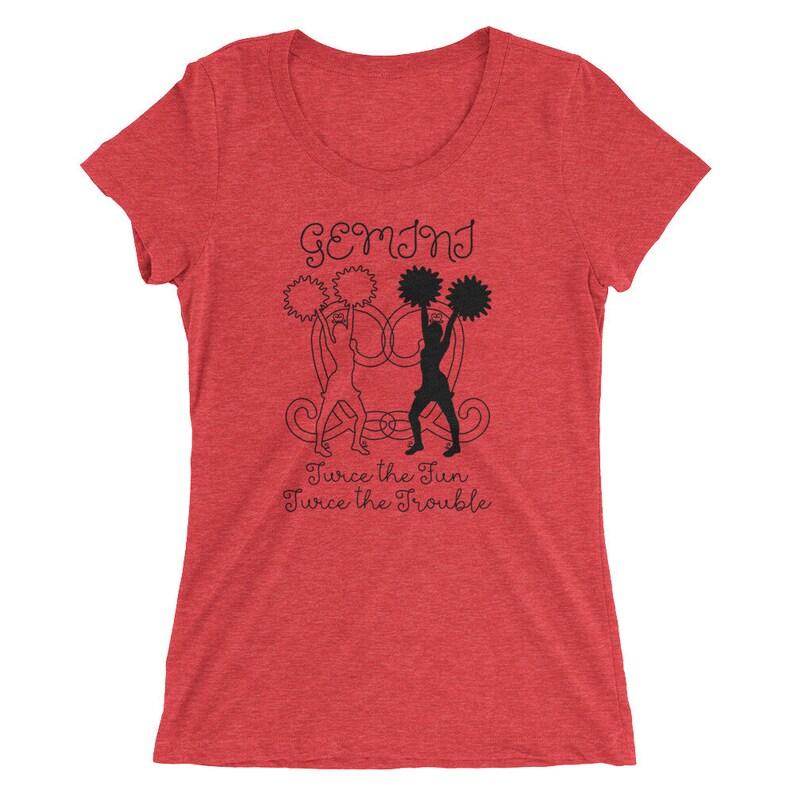 15b92058c Gemini Shirt Women's Tee Signs of the Zodiac Astrology | Etsy