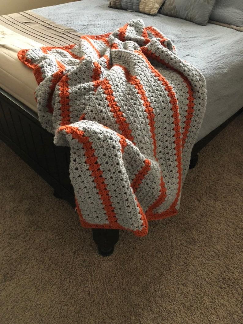 Blanket Gray Crochet Blanket Throw Blanket Crochet Throw Chunky Crochet Throw Grey Blanket Grey Throw Blanket Crochet Blankets