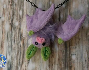 Lilac fruit bat custom plushie