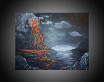 "Original Painting ""Erupt"" Acrylics on Canvas"