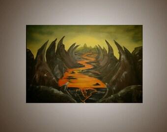 Lava X Fantasy Landscape Painting