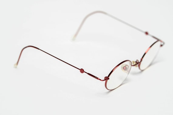 Vintage John Lennon Eye Glasses in Crimson (Case I