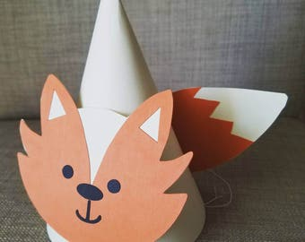 Fox Themed Party Hats