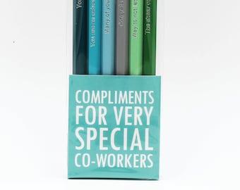 Funny Co-worker Gift Pencil Set - Unique Work Gift Exchange - Funny Secret Santa Gift - White Elephant Gift