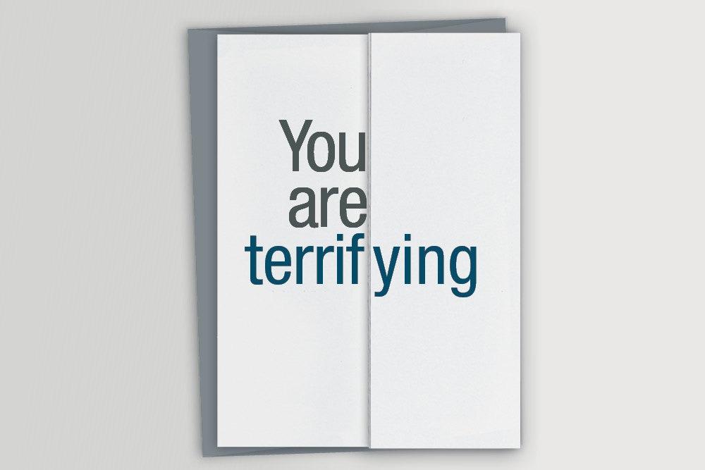 Funny Card For Boss Terrifying Funny Boss Card Funny Etsy