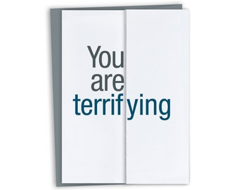Funny Card for Boss / Terrifying / Funny Boss Card Funny Boss Gift / Funny Boss's Day Card / Funny Birthday Card for Boss / Principal's Day