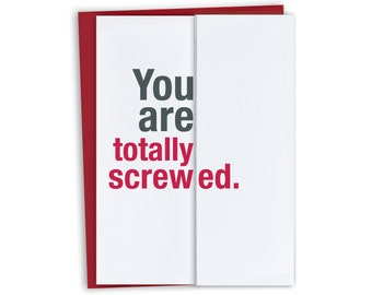 Screwed - Unique Will You Be Our Officiant - Will you be our Reader Card - Asking to be - Will you be my wedding planner - my photographer