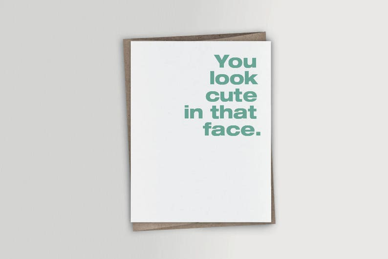 Funny Thinking Of You Card Valentine