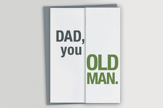 Funny Card For Dad Birthday You