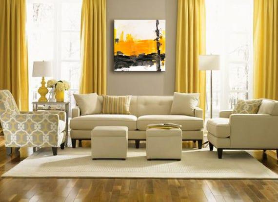 32 original peinture acrylique murale art grand art etsy. Black Bedroom Furniture Sets. Home Design Ideas