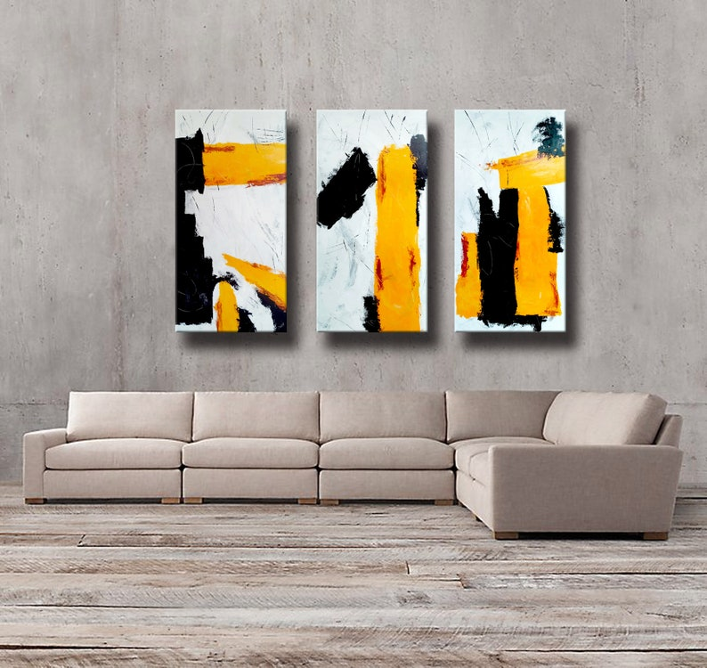 72 x 48 Set of 3 Original Abstract painting extra image 0