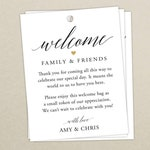 Wedding Welcome Bag Tag (SET OF 10) - Script Gift Tags for Wedding Hotel Welcome Bag - Destination Wedding Tags - Thank You