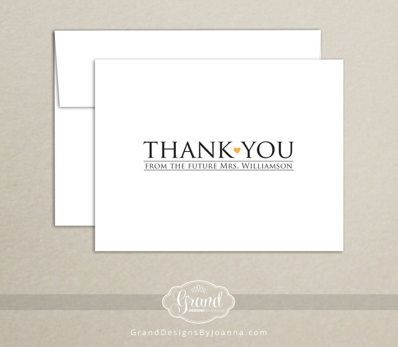 1708768851e7 Personalized Bridal Shower Thank You Cards Thank You from