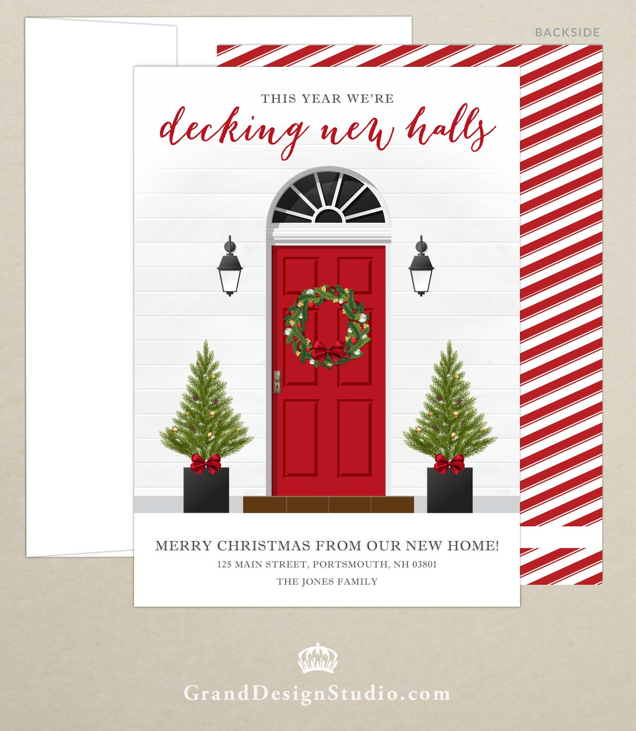 Just Moved New Address Holiday Card Christmas Card   Etsy