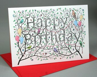 Happy Birthday Card - Birds